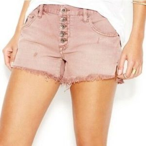 • FREE PEOPLE • dusty pink runaway shorts size 25